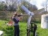 Montage van de staart met de DIO touwpomp als ondersteuning