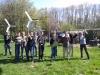 Alle deelnemers met hun (bijna) afgemaakte windmolentje