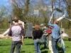 De afgemaakte (en half afgemaakte) windmolentjes vol trots gepresenteerd