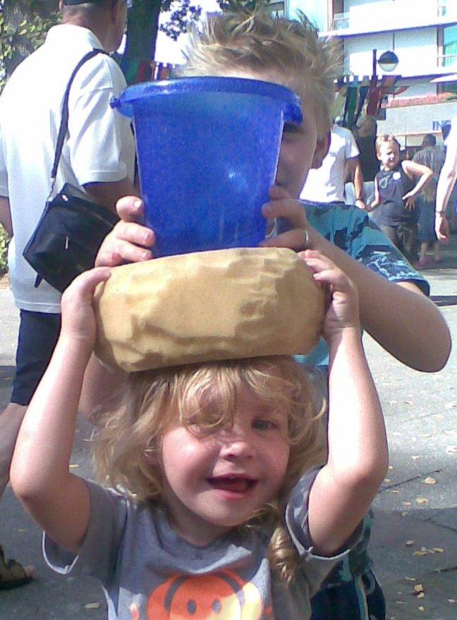 Water dragen op het hoofd