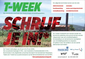 T-week advertentie