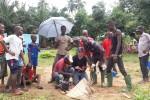 Een VES meting in het dorp Baoulesso.