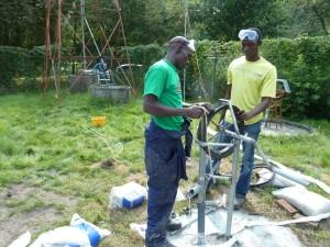 installatie van de touwpomp